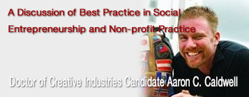 A Discussion of Best Practice in Social Entrepreneurship and Non-profit Practice